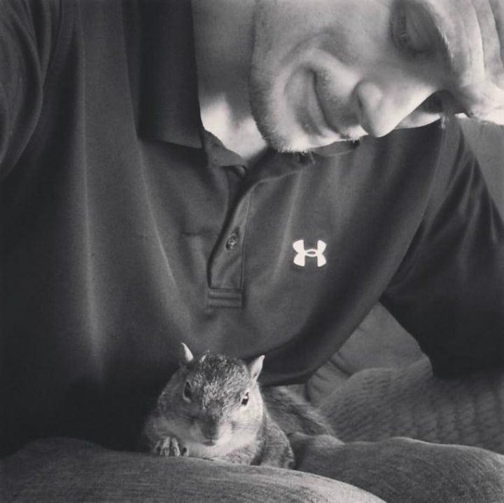 How Texas Man And Baby Squirrel Became Best Friends